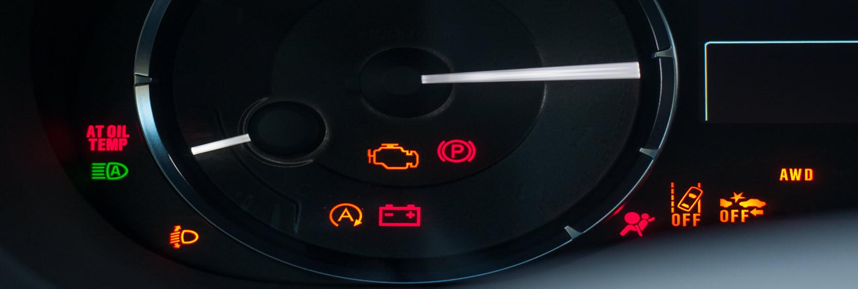 warning lights on a car