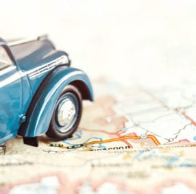 car and map