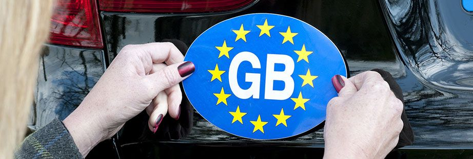 Car GB sticker