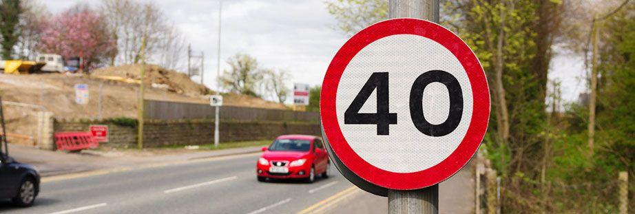 40 mph sign