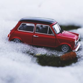 Mini in ice