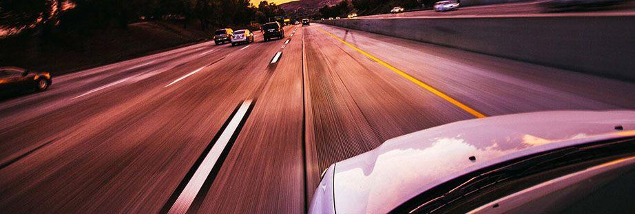 Car on motorway