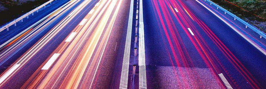 Motorway lit up