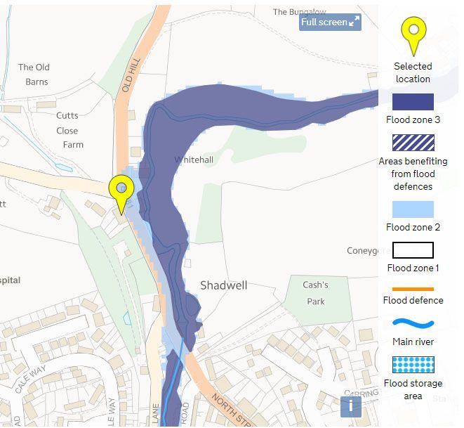 Flood risk map