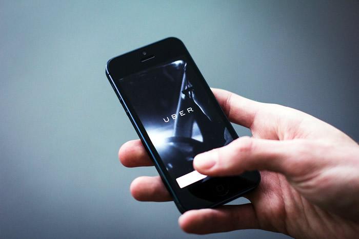 Uber on mobile phone