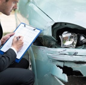 Insurance assessor and car