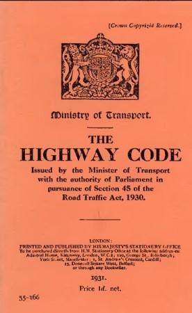 The Highway Code 1931