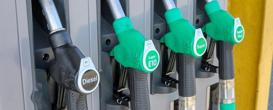 Diesel and unleaded fuel pumps